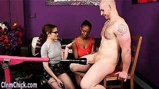 Babe, Black and Ebony, British, CFNM, Exotic, Femdom, Fetish, Glasses, Handjob, Sex Toys