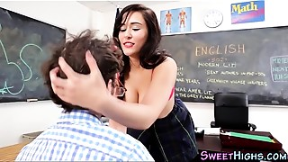 Ass to Mouth, Babe, Blowjob, Brunette, Cumshot, School, Slut, Small Tits, Teen, Uniform