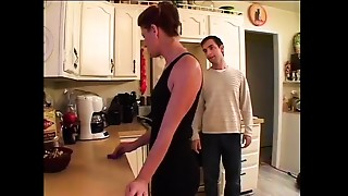 Fucking, Kitchen, Mature, MILF, Stepmom