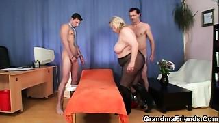 Double Penetration, Grannies, Mature, MILF, Stepmom, Threesome