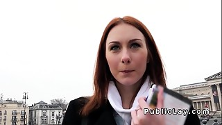 Amateur, Blowjob, Couple, Money, Outdoor, POV, Public Nudity, Reality, Redhead, Student