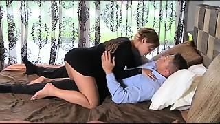 Blowjob, Couple, Cumshot, Kissing, Mature, MILF, Natural, Orgasm, Stepmom