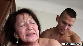 Ass licking, Big Ass, Big Boobs, Blowjob, Brunette, Chubby, Cumshot, Facial, Fingering, Grannies