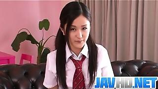 Asian, Blowjob, Fingering, School, Small Tits, Uniform