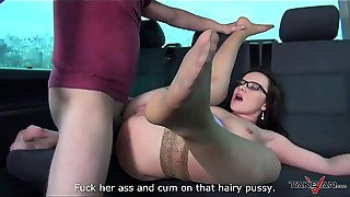 Anal, Ass licking, BBW, Big Ass, Brunette, Doggystyle, Flexible, Glasses, Hairy, Natural