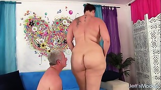BBW, Big Ass, Big Boobs, Brunette, Chubby, Fucking, MILF, Stepmom