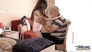 Babe, Big Cock, Blowjob, Cumshot, Daddy, Doggystyle, Grannies, Mature, Old and young, Teen