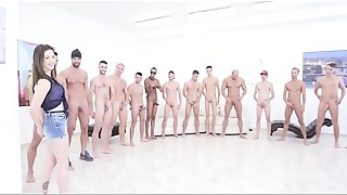 Anal, Blowjob, Cumshot, Double Penetration, Gangbang, Group Sex, Petite, Slut, Teen