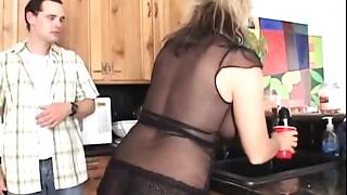 Blonde, Cumshot, Homemade, Mature, MILF, Orgasm, Stepmom