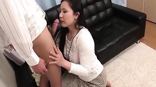 Asian, Big Boobs, Fucking, MILF, Secretary, Wife