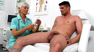 Big Boobs, Blowjob, Cumshot, Doctor, Grannies, Handjob, Masturbation, Mature, MILF, Stepmom